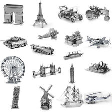18 Styles DIY 3D Laser Cut Metal Puzzle Jigsaw Model Kids Toy New Design