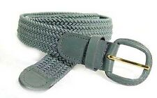 "400 - GRAY NYLON BRAIDED STRETCH BELT 1.25"" WIDE ON SALE & SIZES TO FIT MOST"