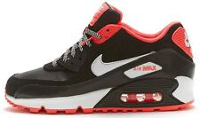 Nike Air Max 90 GS Trainers in Black, Hyper Punch Coral & White 345017 064