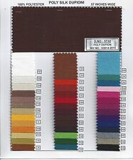 Silk Dupioni Shantung Fabric 100% Polyester for Apparel Home Decor By the Yard