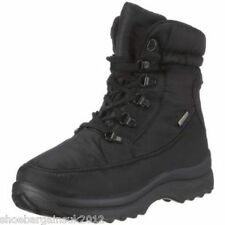 Womens New Black Romika Colorado 186 Snow Waterproof Lace Up Ankle Boots 3-7