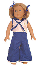 """Doll Clothes AG 18"""" Pajamas Kit's Blue White Pajamas Made For American Girl"""