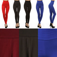 Sexy High Banded Waist Slim Fit Tight Ankle Length Leggings Pant Cotton Spandex