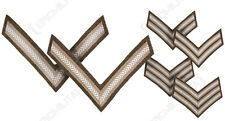 NEW British Army WW2 RANK STRIPES Uniform Patches Chevrons Brown Wool - Option