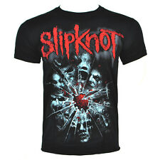 Slipknot T Shirts Mens Black Shattered Tshirt New Official Metal Music Band Top