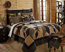 """3pc & 5pc QUEEN Sets """"DAKOTA STAR"""" Patchwork Quilt by VHC ~ Country Primitive"""