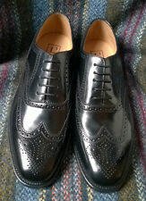 Loake 202B black leather full brogue Oxford shoes width fitting G