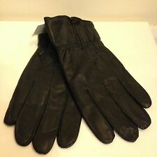Mens Genuine Leather Gloves Winter Insulated Zipper Driving Sizes: M, L, XL, 2XL