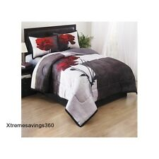 Comforter Set Queen Full Bedding Sheet Black White Bed Spread Bag Luxury Decor