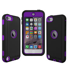 OEM RANGER DEFENDER BELT CLIP CASE FOR iPOD TOUCH 5TH GENERATION BLACK / PURPLE