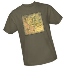 The Lord Of The Rings Trilogy - Map Of Middle Earth -- Adult Size T-Shirt