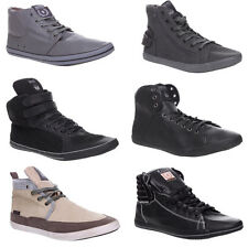 MENS BOYS LACE UP VELCRO HI TOP TRAINER SNEAKER GRIP CASUAL SCHOOL SHOES SIZE