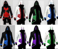 New Assassins Creed 3 Conner Kenway Jacket/Hoodie/Coat/Cap/Cloak Cosplay Costume