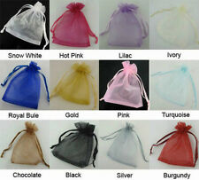 100pcs 7X9X12 Wedding Favour Gift Bags Jewellery Packing Organza Pouch Gift Bag