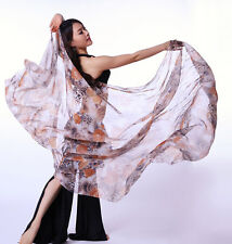 New Belly Dance Costume Leopard Flower Silk Shawl Veil 240*120cm 5 colours