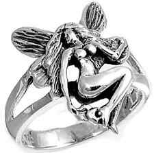 New 925 Sterling Silver Beautiful Love Fairie Glamour Fancy Band Ring Size 3-11