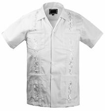 NEW TODDLER BOY'S KIDS JUNIOR GUAYABERA WEDDING BAPTISM SHORT SLEEVE SHIRT WHITE