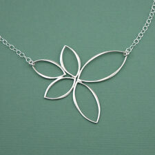 Handmade Lotus Charm Necklace : 925 sterling silver yoga  necklace