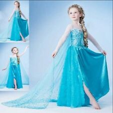 Hot NEW! FROZEN ELSA ANNA PRINCESS DRESS KIDS COSTUME PARTY FANCY SNOW QUEEN,