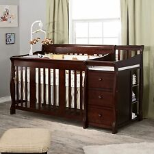 Convertible 4 in 1 Crib Changer Fixed Side Nursery Furniture Baby Toddler Child