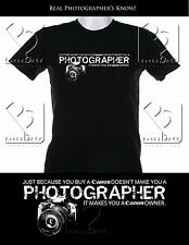 Canon Photography Shirt for Photographers NEW!!! More than a Camera owner.