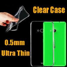 New Ultra thin Crystal Clear TPU GEL Transparent Back Case Cover For NOKIA Phone