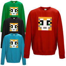 STAMPYLONGNOSE SWEATSHIRT MR MENS & KIDS CAT GAMER YOUTUBE STAMPY UNISEX JUMPER