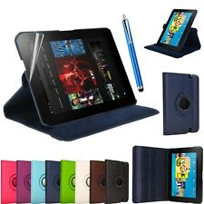 "AMAZON KINDLE FIRE HDX 7"" LEATHER 360 ROTATING SMART CASE COVER WITH SLEEP WAKE"