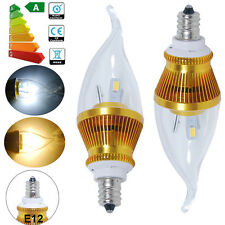 E12 Candelabra 6W SMD LED Candle Light Bulbs Chandelier Warm Day White Spotlight