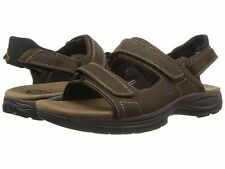$100 DUNHAM ST JOHNSBURY GLADIATOR BY NEW BALANCE MENS 3-STRAP LEATHER SANDALS