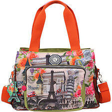 Nicole Lee WR Crinkle Nylon Print Satchel 4 Colors Day Travel Bag NEW