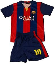 Barcelona #10 MESSI Kids Soccer Home Jersey & Shorts Youth Sizes