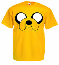 JAKE THE DOG AdventureTime yellow Kids cotton Fruit of the Loom cartoon T Shirt