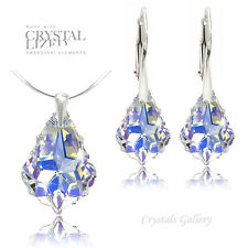 BAROQUE Swarovski Elements Earrings Pendant Necklace Sets Silver 925 - 5 COLOR