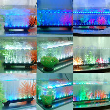 Aquarium Fish Tank Beaming Underwater Submersible Air Bubble Safe LED Lights New