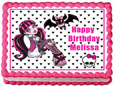 Monster High DRACULAURA Edible image Cake topper design