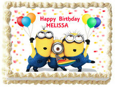 MINIONS Despicable me Birthday Edible image Cake topper