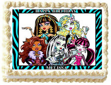 MONSTER HIGH Edible image Cake topper Frosting sheet
