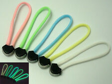 "Handmade 4"" Glow In Dark 550 Paracord Zipper Pulls Lanyard Puller For Backpack C"