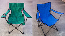 Chair Folding w/ Cup Holder, Outdoor Camping Seat Rest Lounge Garden Chair Bench
