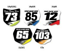 FX MX STICKER DECALS MINI NUMBER PLATE SET OF 3 CUSTOMIZED W/YOUR NAME & NUMBER