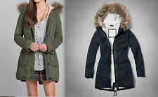 2014 2015 NWT Abercrombie & Fitch Meg Sherpa Lined Parka Jacket Outerwear
