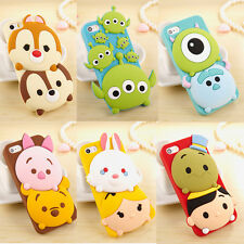 New 3D Cute Cartoon Disney Silicone Rubber Soft Case Cover for iPhone 6 Plus 5S