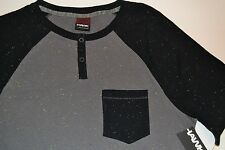 Tony Hawk Size Small Front Pocket Tee T-Shirt Black & Gray with Yellow Accent