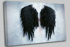 Banksy Black Angel Wings London street Canvas Art Cheap Wall Print Home Interior
