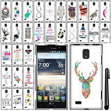 For LG Spectrum 2 VS930 Art Design PATTERN HARD Case Phone Cover + Pen