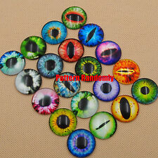 20Pcs 20mm/25mm/30mm Round Flatback Dragon Eye Photo Glass Cabochons Cameo Cover