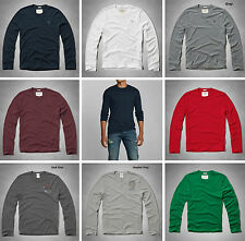 NWT ABERCROMBIE & FITCH MENS NOONMARK TEE LONG SLEEVES SIZES S, M, L, XL, XXL