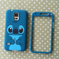 Cute cartoon Blue Stitch front back case cover skin for samsung galaxy S7 note4