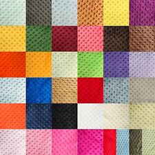 "MINKY DOT FABRIC - 38 COLORS - 60"" WIDTH SOLD BY THE YARD AND BY THE ROLL"